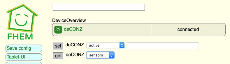 FHEM Conbee Sensor ID ermitteln