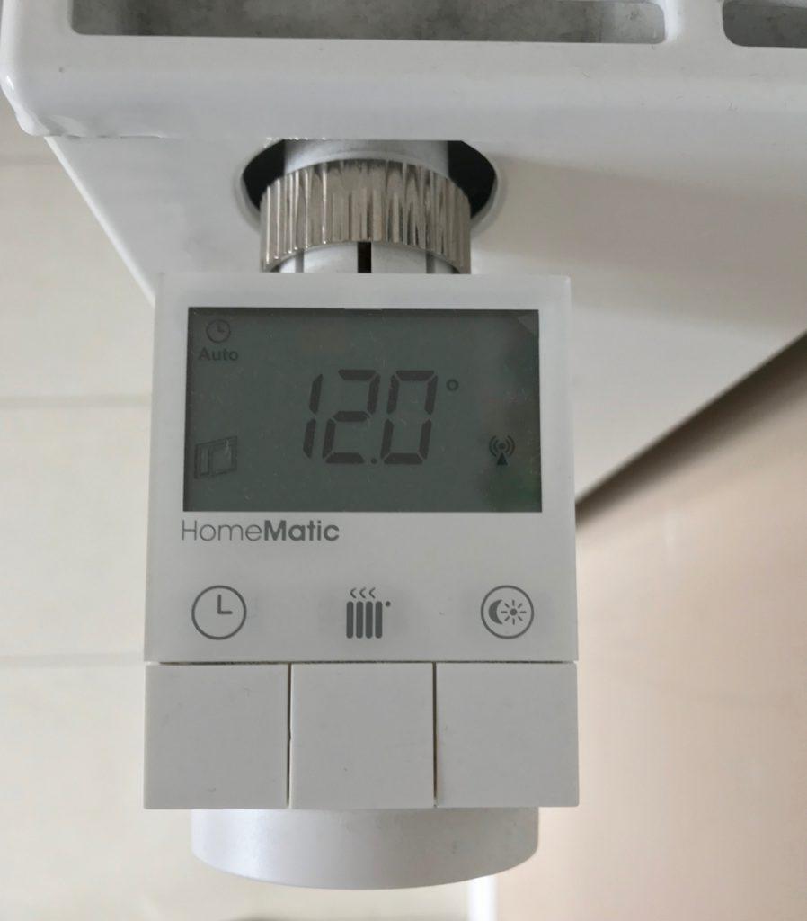 Homematic Heizkörperthermostat HM-CC-RT-DN Fenster Auf Erkennung