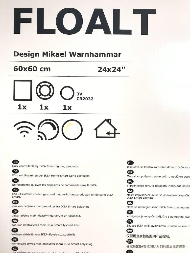 IKEA Floalt Verpackung und Lieferumfang