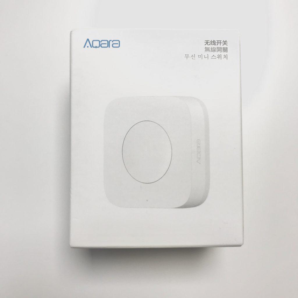 Verpackung des Aqara Mini Wireless Switch auf ZigBee Basis.