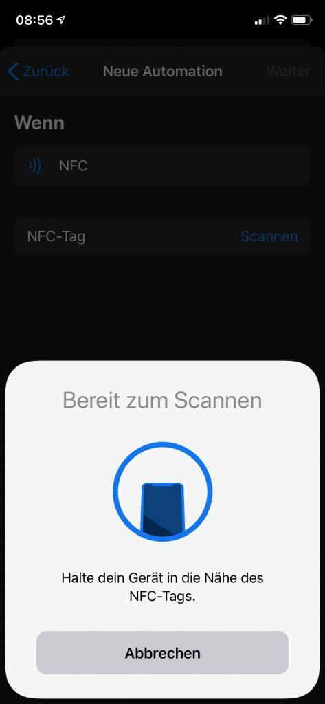 nfc tag mit iphone zur hausautomation nutzen smart live. Black Bedroom Furniture Sets. Home Design Ideas