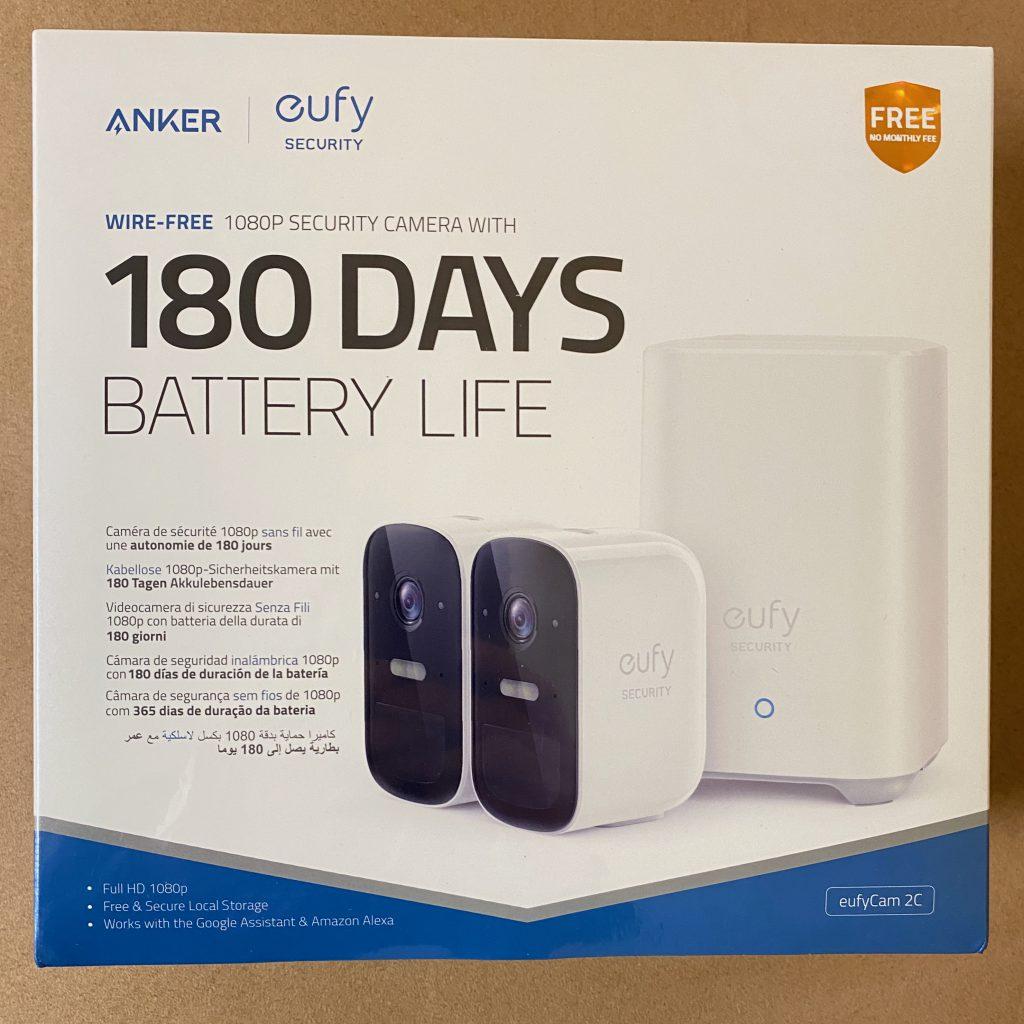 Verpackung der Anker eufy security Kamera Set 2c