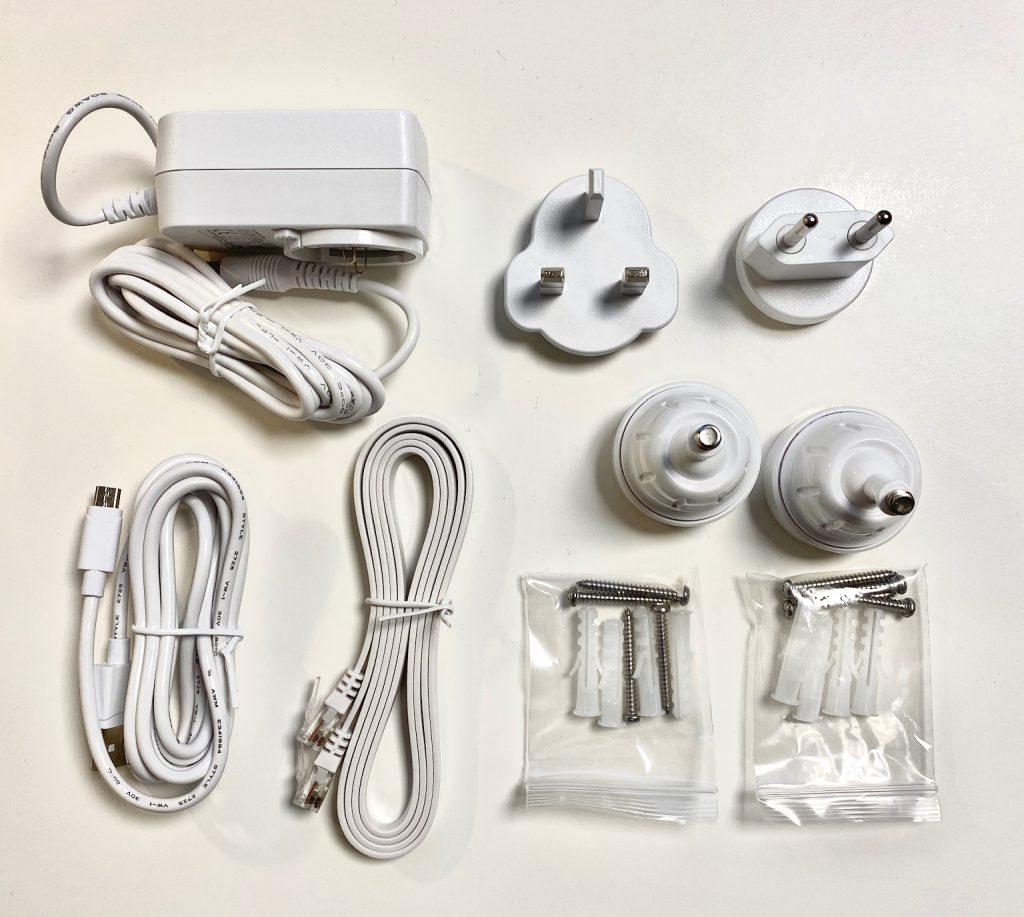 Auflistung des eufy Zubehör für Homebase und Kamera 2c