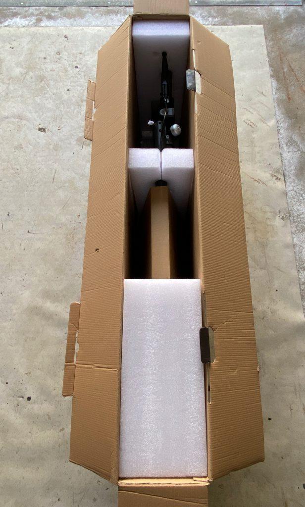 Polsterung des ESA 5000 Rollers von Doc Green im Karton