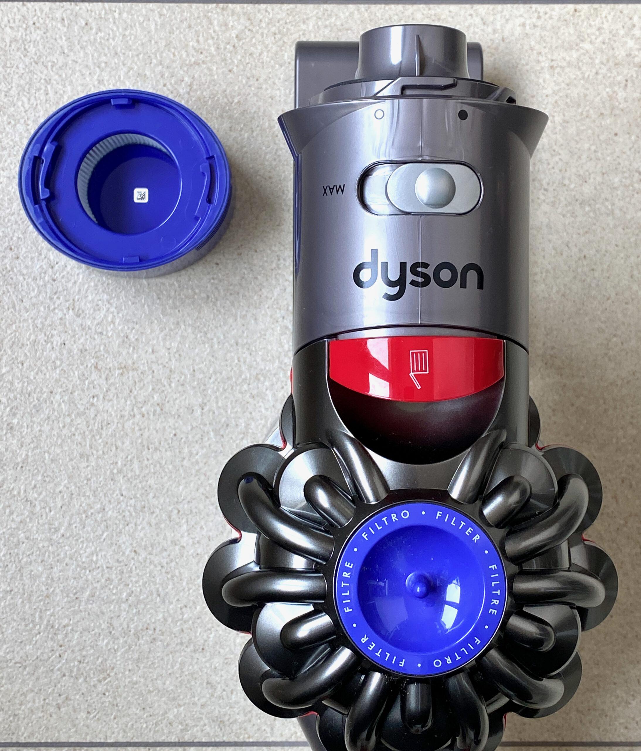 Luftfilter am Akkustaubsauger des Dyson v8