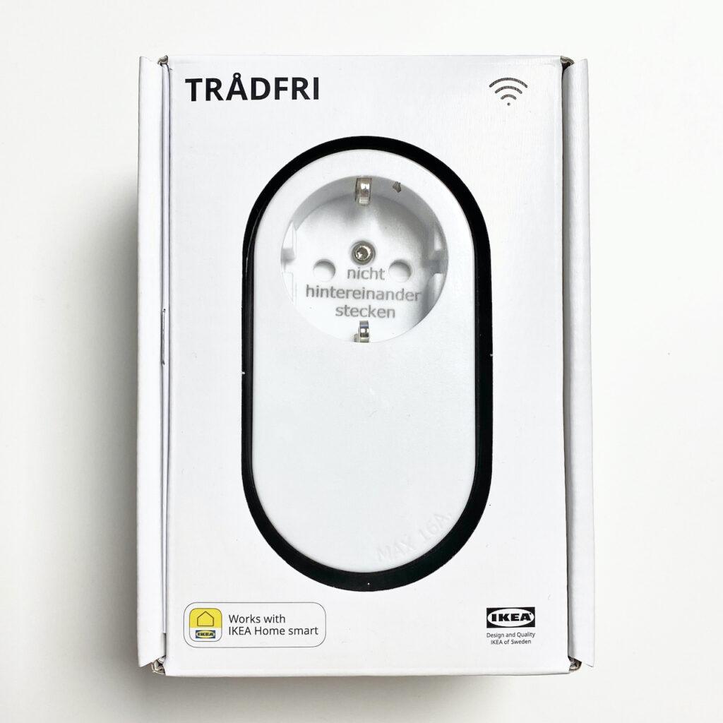 Abbildung der Verpackung der IKEA Tradfri Funk Steckdose.