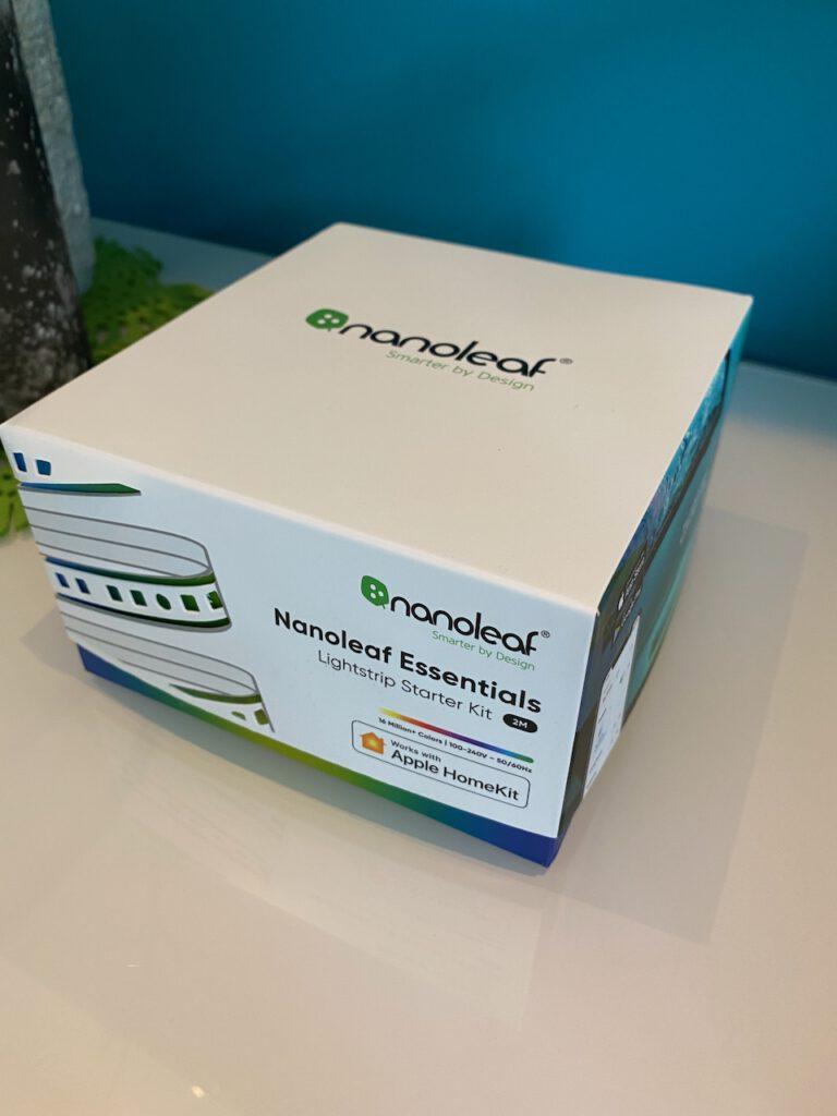 Verpackung des Nanoleaf Essentials Lightstrip.