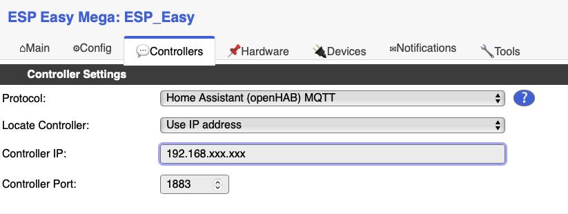 Einrichtung des MQTT Servers.