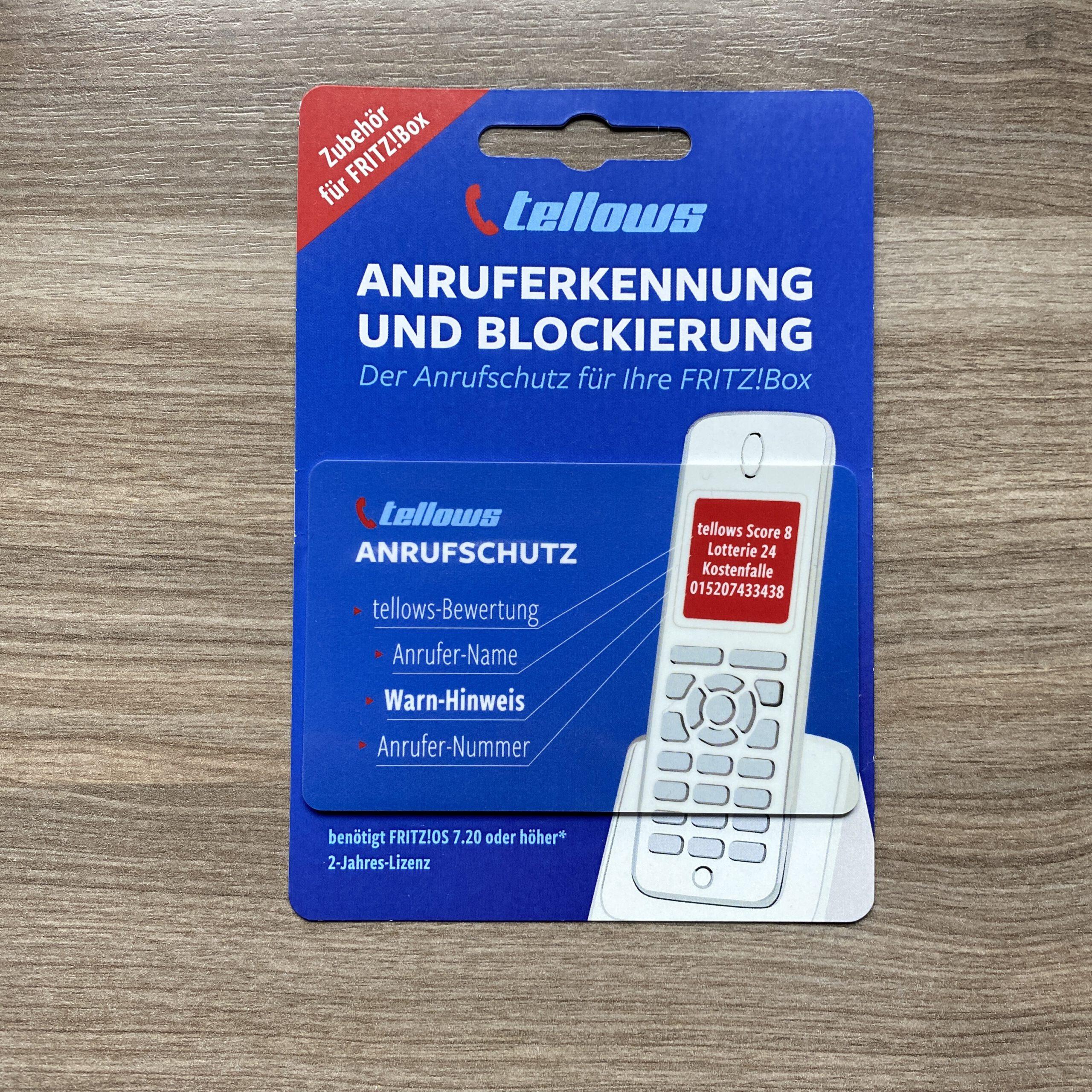 tellows Lizenz zur Anruferkennung für AVM Fritz Box.