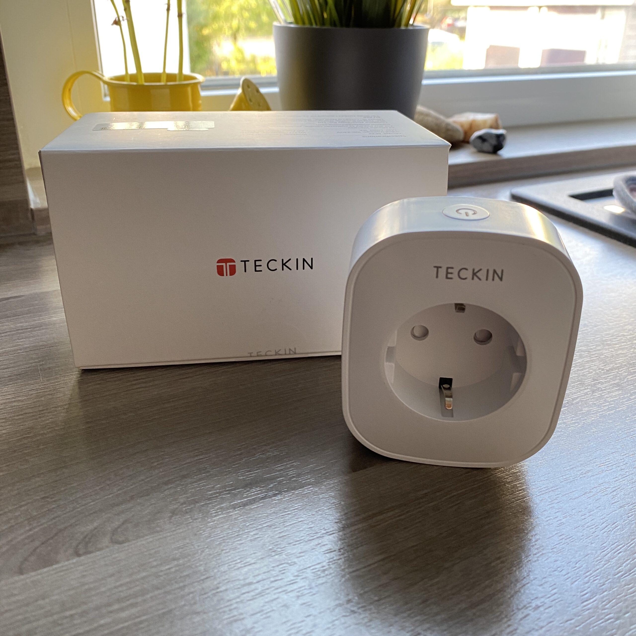 tuya Smart Plug TECKIN SP22 für den Innenbereich mit 16A und Energieverbrauchsmessung.